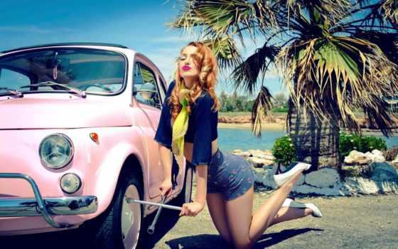 pin, girls, авто, ретро, девушка, cars, vintage, marianna, ключ,
