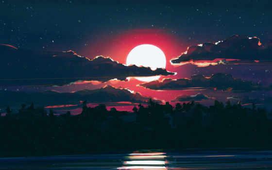луна,