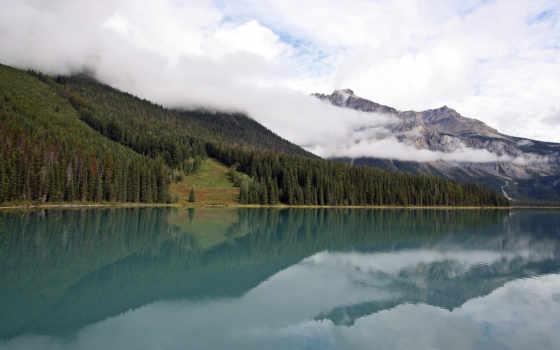 озеро, горы, картинку, landscape, картинка, чистое, озере, природа,