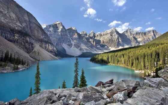 banff, national, park, озеро, moraine, kanada, góry, pictures,