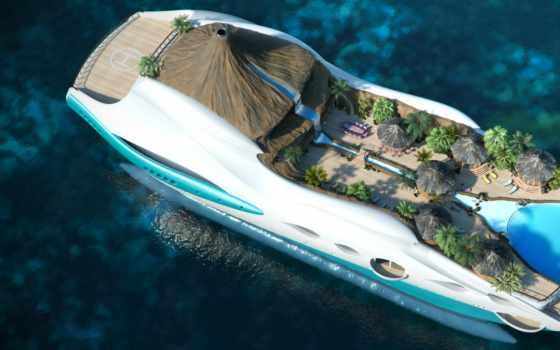 остров, tropical, рай, яхта, design,