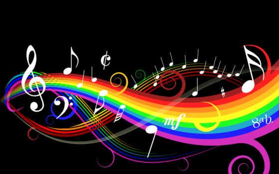 музыка, notes, black
