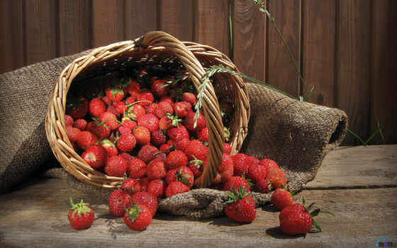 клубника, ягоды, корзина,