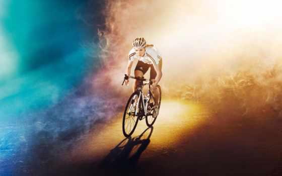 спорт, девушка, велосипед, бесплатные, велоспорт,