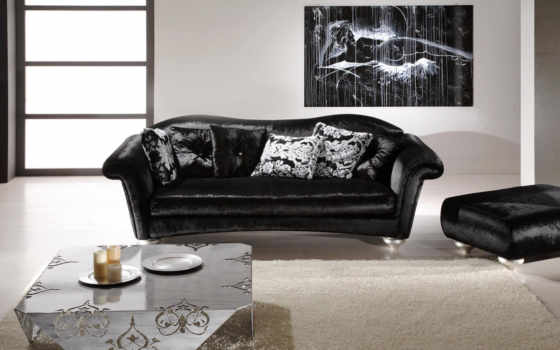 белый, диваны, диван