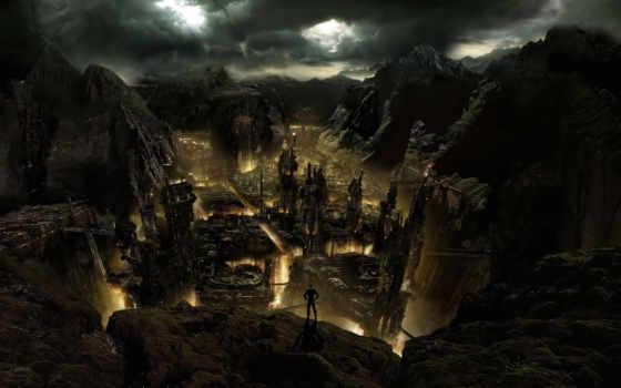 город, dark, medieval