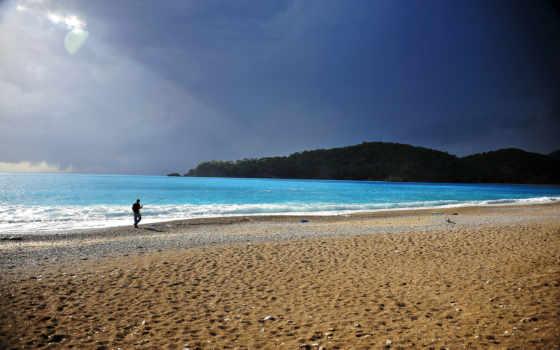 пляж, рыбак, vara
