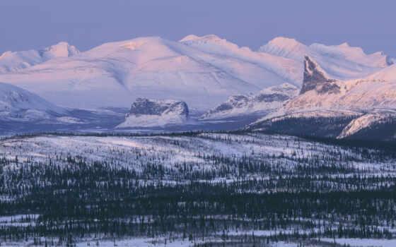 park, sarek, national, sweden, lapland, winter, горы,
