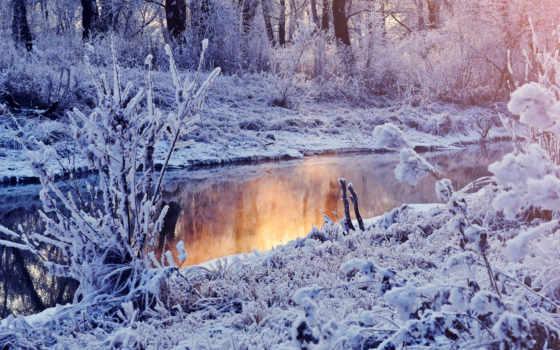 winter, зимние, march, озеро, река, лес, страсть, дек, широкоформатные, зимнем, мар,
