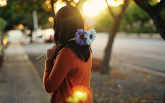 cvety, brunette, девушка, настроения, urdu, лежит, город,