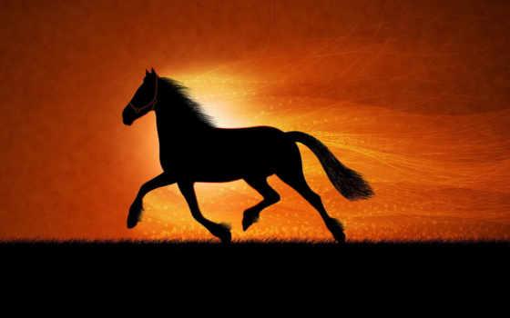 рисунок, лошадь, art, оригинал, pattern,