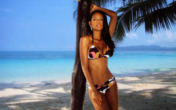 palm, девушка, psd, hot, summer, пляж, море, montage, шаблон,