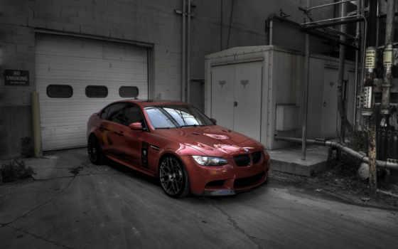 bmw, гаража, red, тюнинг, спорт, dynamics, racing,