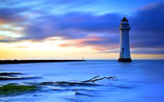 lighthouse, desktop, фон