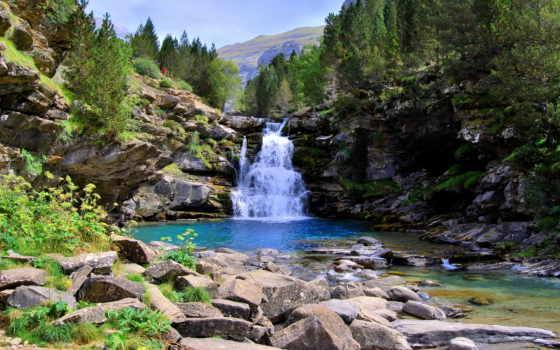 водопады, природа, испания