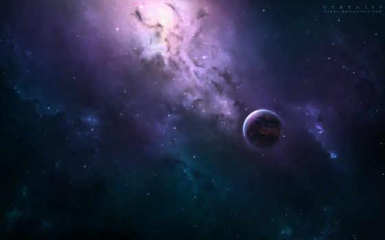 ,cosmos, планеты, art, космос, туманность,