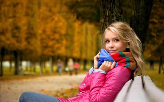 девушка, настроения, devushki, фоновые, рисунки, park, бесплатные, осень, настроение, blonde, парке,