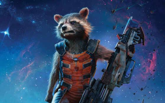галактики, стражи, енот, фильмы, еноты, rocket, реактивный, guardians, vol,