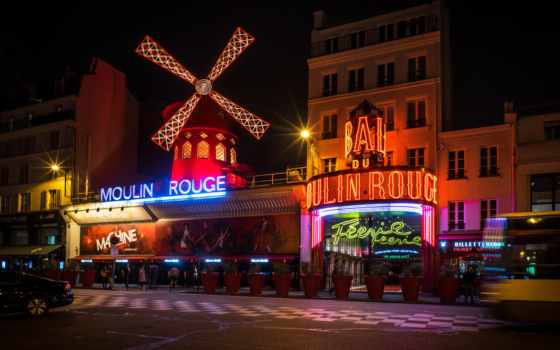 moulin, rouge, video