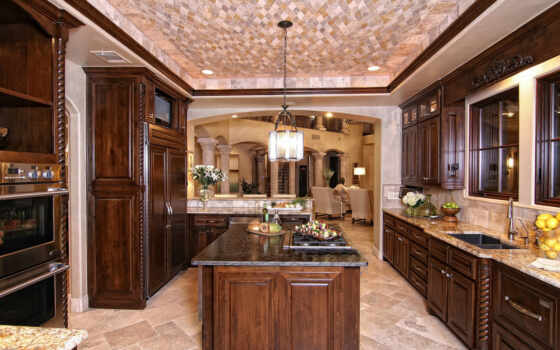 home, with, kitchen, luxury, interior, highlights, island, center, bay, custom, austin, holt, homes, inspired, horseshoe, tuscan, zbranek,
