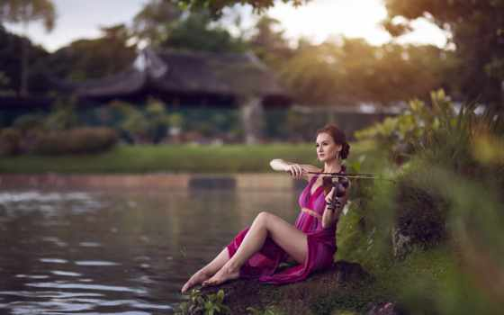 скрипка, музыка, девушка