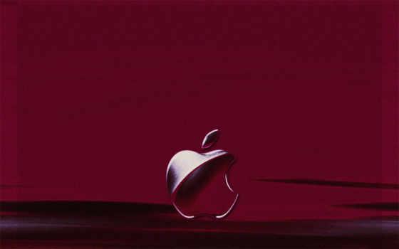 apple пурпурный на пурпурном фоне