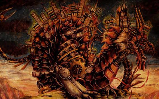 steampunk, дракон, стимпанк, art, сегодня, fantasy,