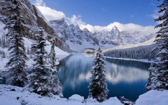 winter, озеро, года