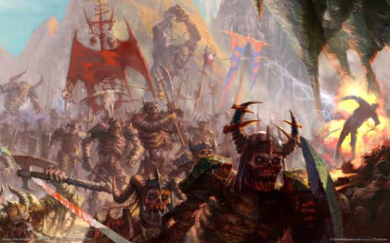 армия, скелеты, tmy, орки, зомби, топоры, chaos, art,