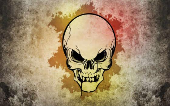 череп, стиль, широкоформатные, one, click, ваше, украсят, зубы,