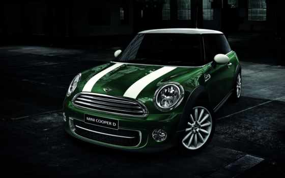 мини, cooper, машина, car, зелёный, streaks, машины,