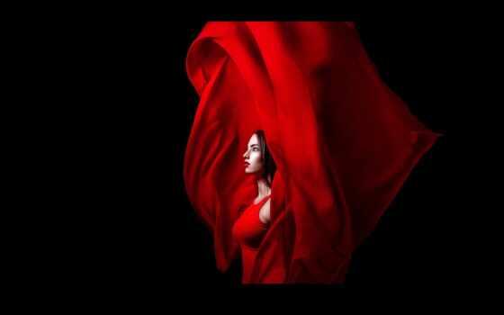 devushka, красное, чёрн, fon, чёрный, табличка, модель, красный, topper