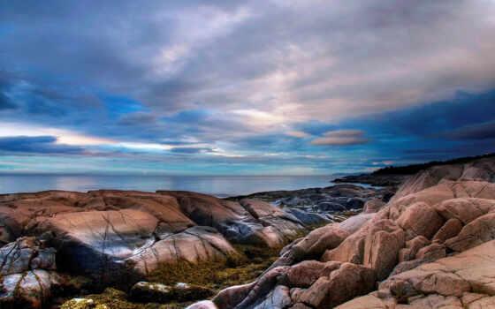 rocks, sky
