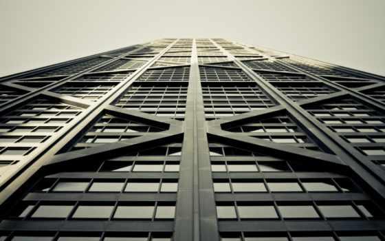 стекла, здание