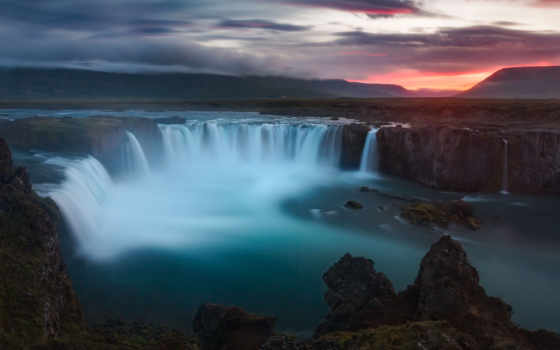 iceland, waterfalls, godafoss, водопад, desktop, free,