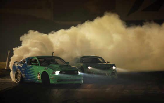 drift, машины, дым