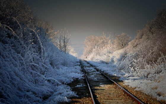 дорога, железная, landscape