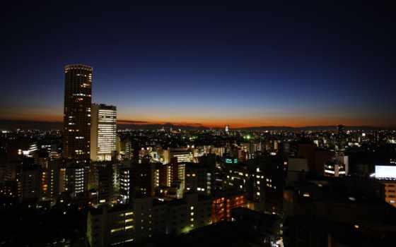 tokyo, город, ночь