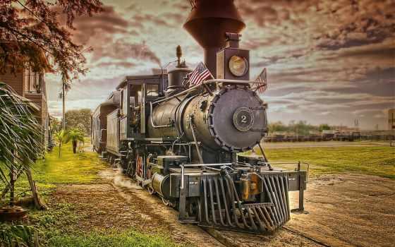 parowóz, tapety, pociąg, telefon, komórkę, lokomotywa, тори,