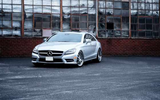 mercedes, benz, cls, amg, fms, машины, forged, silver, wheels,