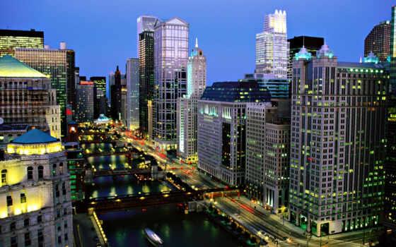 мегаполис, chicago, красивый, оформление, нью, твой, york, downtown, magnificent, mile, free