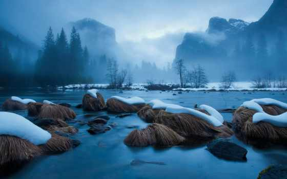 горы, вода