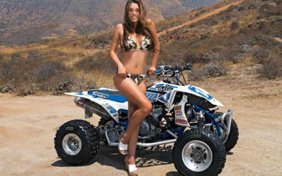 sexy, квадроцикл, мото, quads, pack, pour, девушка,