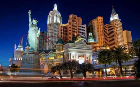 статуя, los, валли, ночь, ночных, сайте, интересное, las, самое, berlogos, свободы, городов, небоскребов,