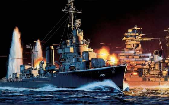 корабли, dd, laffey, uss, рисованные, армия, военные, корабль, флот, art,
