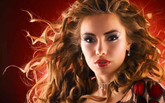 волос, рыжих, макияж, red, color, рыжие, волосы, оттенок,