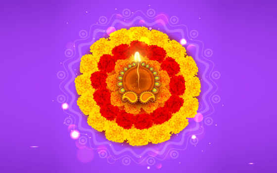 diwali, rangoli, цветы, украшенный, дия, вектор, illustration, stock, free, изображение,