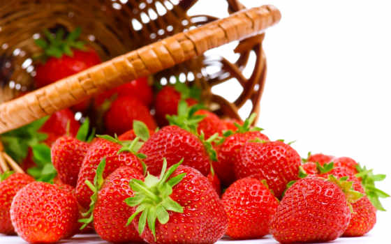клубника, корзина, ягоды