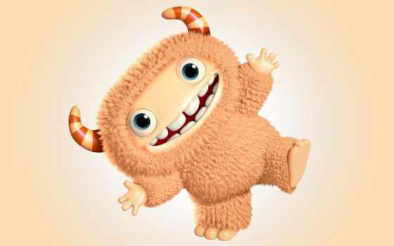 funny, monster, есть, cute, характер, cartoon, rendering, monsters,