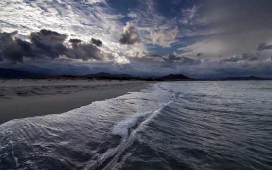 волна, море, небо